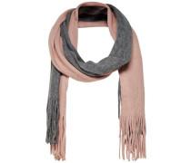 Kontrast Schal grau / rosa
