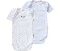 Bodys Doppelpack für Jungen blau / hellblau / grau / weiß