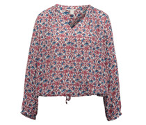 ESPRIT Verkürzte Bluse aus fließender Viskose mischfarben / weiß