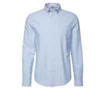 Hemd mit Button-Down-Kragen hellblau