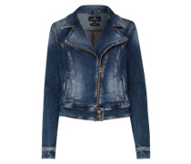 Bikerjacke aus Denim 'Ellen' blue denim