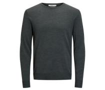 Merinowoll-Pullover grünmeliert