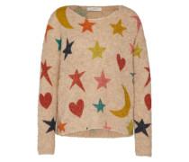 Pullover mit Musterung nude / mischfarben