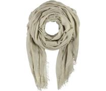 Polyester-Woll-Schal beige / gold / greige / silber