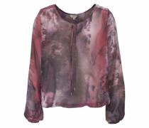 Shirtbluse 'Leana' brombeer / rosa
