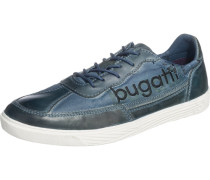 Sneaker im Material Mix opal / dunkelblau