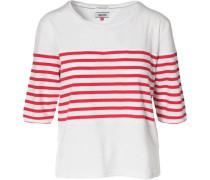 3/4-Arm-Shirt rot / weiß