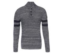 Pullover 'Dadin sport shawl knit l/s' blau / weiß