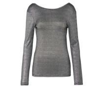 Longsleeve Shirt 'Arina' silbergrau / schwarz