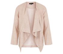 Leinen-Mix-Blazer pink