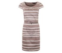 Kleid mit Gürtel braun