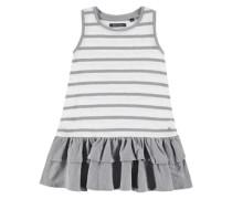 Kleid ohne Arm mit Ringeln grau