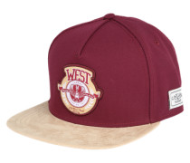 Cap 'West University' weinrot