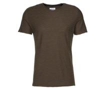 T-Shirt 'reverse stripe t-shirt' dunkelgrau
