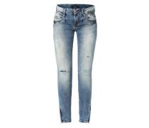 Slim Fit Jeans 'Lianne' blau