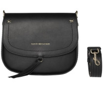 Tasche 'city Leather Saddle Bag' schwarz
