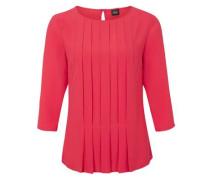 Fließende Bluse mit Biesen pink