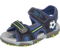 Kinder Sandalen WMS-Weite M4 dunkelblau / apfel / schwarz
