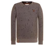 Sweatshirt 'Ausgewogener Drogenkonsum' braun / schwarz