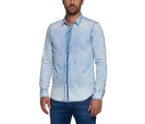 Jeanshemd Bleached Slim FIT blau