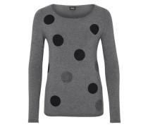 Pullover im Pünktchen-Design dunkelgrau