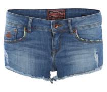 Jeansshorts im Used Look blau