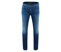 Jeans 'Slim Straight' mit Destroyed-Effekten blue denim