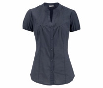 Klassische Bluse blau