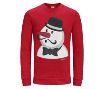 Sweatshirt Xmas rot / schwarz / weiß