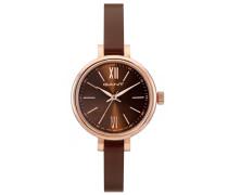 Armbanduhr »Elizabeth W71403« braun / rosegold