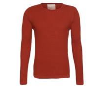 Strukturierter Pullover rot