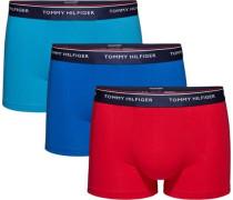 Unterwäsche '3P Trunk' blau / petrol / rot