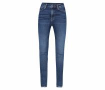 Al-Ma High Waist Skinny Jeans blue