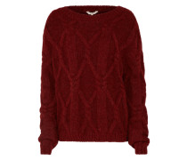 Pullover 'heavy Cable Crw' rot
