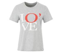 T-Shirt Sonderedition mit Spezial-Logo grau / rot / weiß