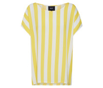 T-Shirt 'Bay' gelb / weiß