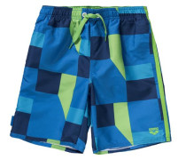Badeshorts 'geometrical' für Jungen blau