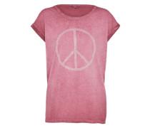 T-Shirt 'Peace' rosa