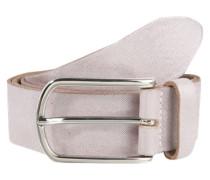 Ledergürtel im Metallic-Look puder