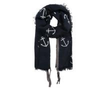 Schal 'anchors' navy / weiß