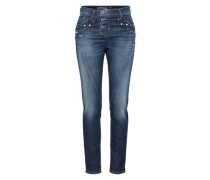 Loosefit Jeans mit Zierperlen blue denim