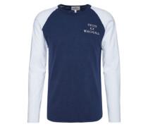 Shirt 'deus_It_000252' navy / weiß