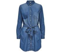 Langärmeliges Jeanskleid blau