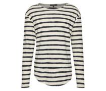 Sweatshirt 'Alister' mit Streifen nachtblau / weiß