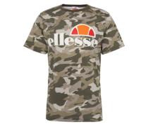 T-Shirt 'prado' khaki / weiß