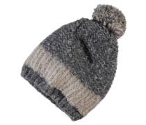 Strick-Mütze nitmilange braun / grau