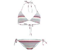 Triangel-Bikini 'structure' blau / pink