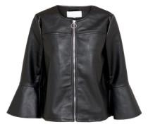 Jacke aus Lederimitat 'morna' schwarz