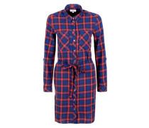 Kleid blau / rot