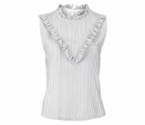Blusentop 'stripe Blouse' grau / weiß